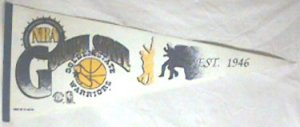 "1992 GOLDEN STATE WARRIORS 29"" PENNANT"
