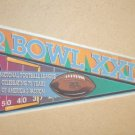 SUPER BOWL XXIX PENNANT SAN FRANCISCO FORTY NINERS vs SAN DIEGO CHARGERS