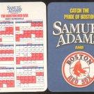 SAM ADAMS BEER RED SOX 2003 CARDBOARD COASTER SCHEDULE