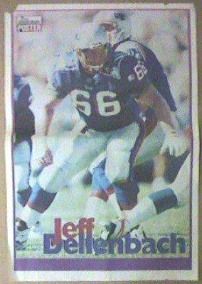 NEW ENGLAND PATRIOTS JEFF DELLENBACH 1995 POSTER