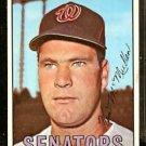 WASHINGTON SENATORS KEN McMULLEN 1967 TOPPS # 47 EX/EM