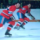 MONTREAL CANADIENS STEVE SHUTT FRANK MAHOVLICH IN ACTION LARGE COLOR PINUP PHOTO