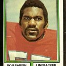 DENVER BRONCOS DON PARISH 1974 TOPPS # 467 NR MT