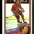 MONTREAL CANADIENS GUY LaFLEUR 1984 TOPPS # 81 NR MT
