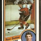 PHILADELPHIA FLYERS RON SUTTER ROOKIE CARD RC 1984 TOPPS # 122 NM