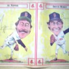 BOSTON RED SOX AL NIPPER BRUCE HURST 1986 NEWSPAPER POSTER