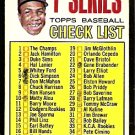1ST SERIES CHECKLIST BALTIMORE ORIOLES FRANK ROBINSON 1967 TOPPS # 62 EX partially marked