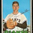 SAN FRANCISCO GIANTS TOM HALLER 1967 TOPPS # 65 VG