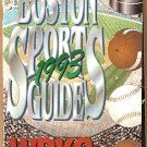 1993 WRKO BOSTON SPORTS GUIDE RED SOX BRUINS PATRIOTS CELTICS