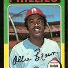 PHILADELPHIA PHILLIES OLLIE BROWN 1975 TOPPS # 596 VG