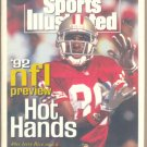 1992 SPORTS ILLUSTRATED NFL PREVIEW ISSUE FORTY NINERS JERRY RICE BLUE JAYS PITTSBURGH STEELERS