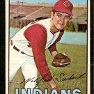 CLEVELAND INDIANS SONNY SIEBERT 1967 TOPPS # 95 VG/EX