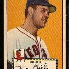 BOSTON RED SOX LEO KIELY ROOKIE CARD RC 1952 TOPPS BLACKBACK # 54 EX