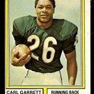 CHICAGO BEARS CARL GARRETT 1974 TOPPS # 506