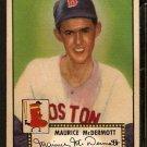 BOSTON RED SOX MAURICE McDERMOTT 1952 TOPPS # 119