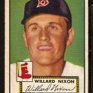 BOSTON RED SOX WILLARD NIXON ROOKIE CARD RC 1952 TOPPS # 269 VG