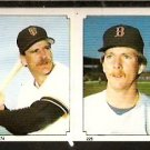BOSTON RED SOX JOHN TUDOR # 225 SAN FRANCISCO GIANTS BOB BRENLY # 174 1984 TOPPS STICKER