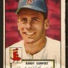 BOSTON RED SOX RANDY GUMPERT 1952 TOPPS # 247