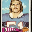 BUFFALO BILLS BRUCE JARVIS 1975 TOPPS # 27 EX/EM