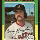 BOSTON RED SOX TERRY HUGHES 1975 TOPPS # 612 NR MT