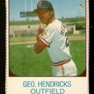 CLEVELAND INDIANS GEORGE HENDRICK 1975 HOSTESS # 140
