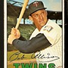 MINNESOTA TWINS BOB ALLISON 1967 TOPPS # 194 VG