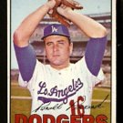 LOS ANGELES DODGERS RON PERRANOSKI 1967 TOPPS # 197 VG