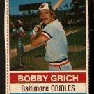 BALTIMORE ORIOLES BOBBY GRICH 1976 HOSTESS # 13