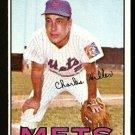 NEW YORK METS CHUCK HILLER 1967 TOPPS # 198 EX