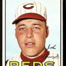 CINCINNATI REDS JOHNNY EDWARDS 1967 TOPPS # 202 EX