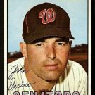 WASHINGTON SENATORS JOHN ORSINO 1967 TOPPS # 207 EX
