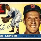 BOSTON RED SOX TED LEPCIO 1955 TOPPS # 128 VG+