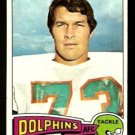 MIAMI DOLPHINS NORM EVANS 1975 TOPPS # 234 VG/EX