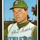 KANSAS CITY ATHLETICS PAUL LINDBLAD 1967 TOPPS # 227 EX MT