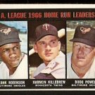 A.L. HR LDR BALTIMORE ORIOLES FRANK ROBINSON BOOG POWELL TWINS HARMON KILLEBREW 1967 TOPPS # 243 EX