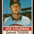DETROIT TIGERS JOE COLEMAN 1976 HOSTESS # 89
