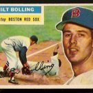 BOSTON RED SOX MILT BOLLING 1956 TOPPS # 315 EX/EX MT