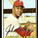 PHILADELPHIA PHILLIES JOHN BRIGGS 1967 TOPPS # 268 Good