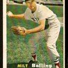 BOSTON RED SOX MILT BOLLING 1957 TOPPS # 131 EX/EM