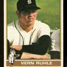 DETROIT TIGERS VERN RUHLE 1976 TOPPS # 89 VG+