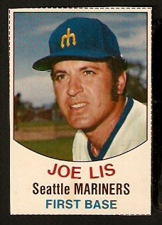 SEATTLE MARINERS JOE LIS 1977 HOSTESS # 125