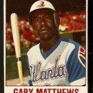 ATLANTA BRAVES GARY MATTHEWS 1978 HOSTESS # 19