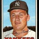 NEW YORK YANKEES TOM TRESH 1967 TOPPS # 289 VG