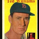 BOSTON RED SOX TED WILLIAMS 1958 TOPPS # 1