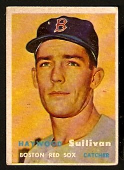 BOSTON RED SOX HAYWOOD SULLIVAN ROOKIE CARD RC 1957 TOPPS # 336 VG