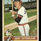 DETROIT TIGERS GARY SUTHERLAND 1976 TOPPS # 113 EX/EM