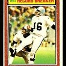 OAKLAND RAIDERS GEORGE BLANDA RECORD BREAKER 1976 TOPPS # 1 EX