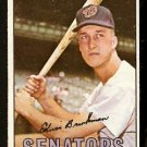 WASHINGTON SENATORS ED BRINKMAN 1967 TOPPS # 311 good