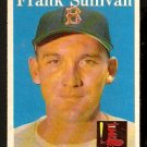 BOSTON RED SOX FRANK SULLIVAN 1958 TOPPS # 18 EX/EM