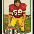 WASHINGTON REDSKINS BRAD DUSEK 1976 TOPPS # 31 EX MT